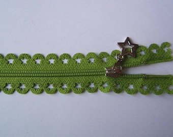 Edward closure lace star 25 cm Green