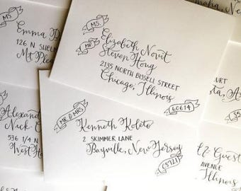 Envelope Calligraphy with Added Custom Details