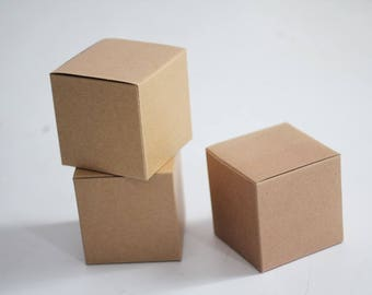 Kraft Gift Boxes 5x5x5 lot of 70