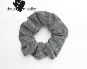 Gray Upcycled hair accessory, scrunchie