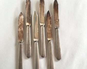Vintage Silver Plate Knives Rockford Triple Silverplate Cheese or Fruit Serving