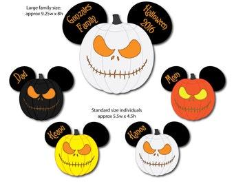 Jack Skellington Pumpkin Head Family Disney Cruise Magnet Set