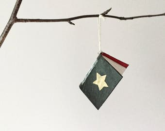 Christmas Wish Book - Tree Ornament - Paper Decoration - Bauble - Tiny Notebook