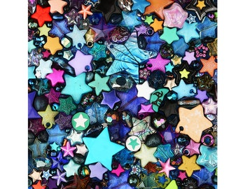 Starry Eyed - Star Greetings Card - Celestial galaxy print