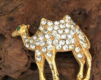 Camel Pave Brooch