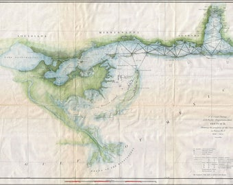 Poster, Many Sizes Available; 1853 U.S. Coast Survey Map Of Lake Pontchartrain, New Orleans, And The Mississippi Deltamissdelta Uscs 1852