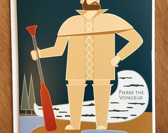 Pierre the Voyageur card, Two Harbors, Minnesota