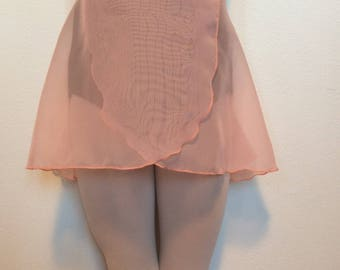 Youth Chiffon Ballet Wrap Skirt - Peach
