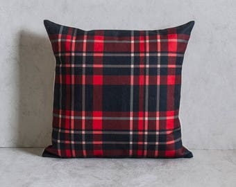 Plaid Pillow Cover, Plaid Pattern Pillow Cover, Pillow Covers, Throw Pillow, Christmas Pillow Cover, Decorative Pillow Cover