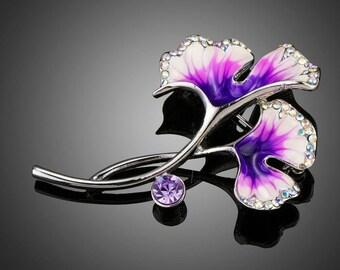 Artistic Bloom Flower Brooch Pin