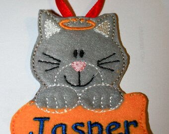 Personalized Cat felt Ornament