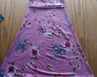 Girls and Toddlers Maxi Skirt  Pink Floral