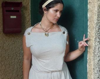 Feminine Wrap Dress,  Convertible , Knee length Jersey Dress