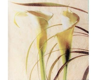 Set of 3 napkins PLA020 lilies