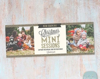ON SALE Christmas Mini Session Facebook Timeline - Photoshop Template - HC008 - Instant Download