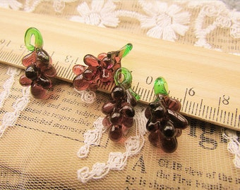 Bulksale -50 pcs fabulous grape beads-eye candy-lampwork glass