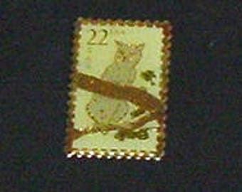 CAT PIN BACK (A) - Of Cats On Stamps