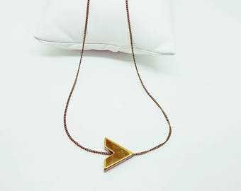 Small bronze and gold necklace