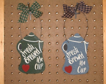 Fresh Brewed, Coffee Sign, Kitchen Sign