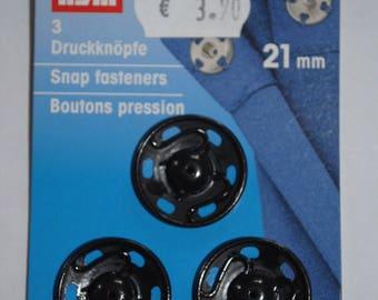 Black snap by 3 mm 21 341172 prym sewing