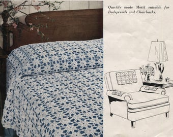 Crochet Bedspread or Tablecloth Pattern - Scarfs and Chair Back Antimacassar - PDF Download - Motifs - Help Rescued Cats