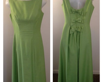 Lovely Vintage Lime Green Formal Dress