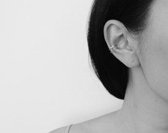 Silver Ear Cuff Sterling Silver Ear Cuff Simple Silver Cuff Silver Cuff Earrings