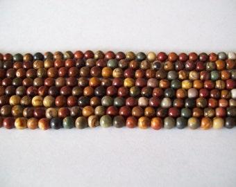 Red Creek Jasper 8mm Beads- 1/2 strand