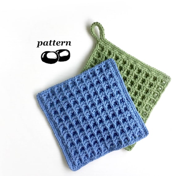 Crochet Dishcloth Pattern / Beginner Crochet Pattern Waffle