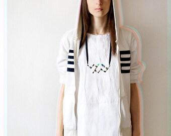 Geek girl necklace, radionics lo-fi style minimalist necklace, urban fashion jewelry, shabby chic