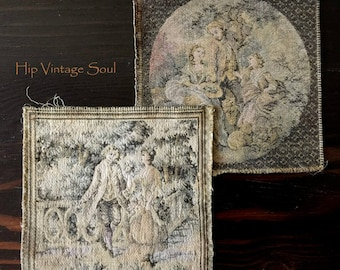 Vintage France Tapestries, Victorian French Tapestries, European Tapestry, Home Decor, Frameable Tapestry