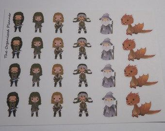 The Hobbit Inspired Stickers