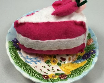 Strawberry Cake Slice Baby Rattle