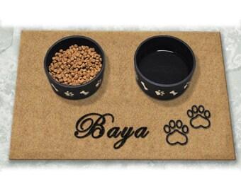 Paw Prints Personalized - DuraCoir Pet Placemat