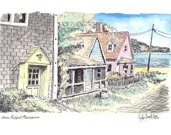 Houses, Rockport, Massachusetts (Print 2) by Geoff