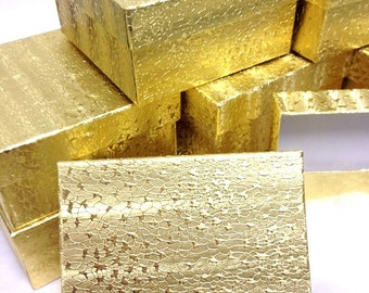 10 Pack - Gold Foil Boxes (3.75 x 3.75 x 2 in.)