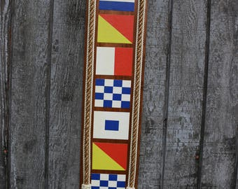 international alphabet flag plaque
