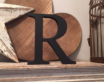 Giant Wooden Letter - R - Times Roman Font, 50cm high, 20 inch, any colour, wall letter, wall decor - various colours & finishes