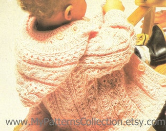 """Knitting pattern - Baby """"Jacket"""" - Instant download"""