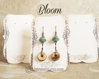 24•BLOOM•Zoe Earring Cards•Jewelry cards•Necklace Card•Earring Display•Earring Holder•Necklace Holder•Tent Card
