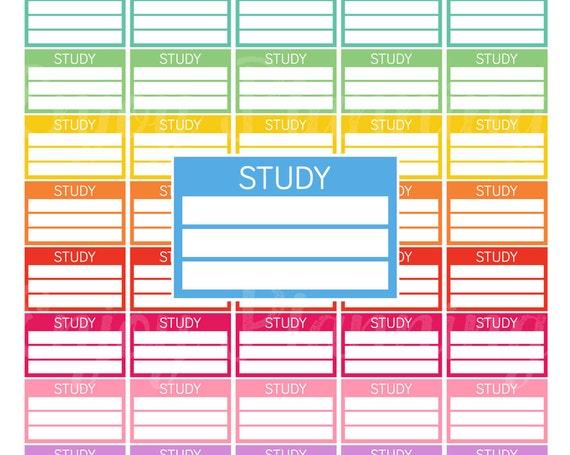 study schedule printable