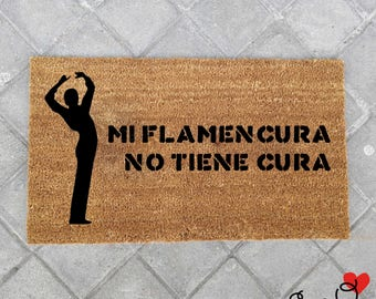 "Doormat ""Mi Flamencura no Cura""-Flamenco"