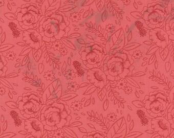 Little Miss Sunshine Happy Dance Floral in Berry by Vanessa Goertzen for Moda Fabrics