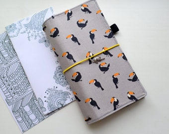 A5, b6, a6 Fabric Cover Fauxdori, Travelers Notebook, Midori insert, Cover fabric, A5, A6, Field Notes, Mini size, Pocket size