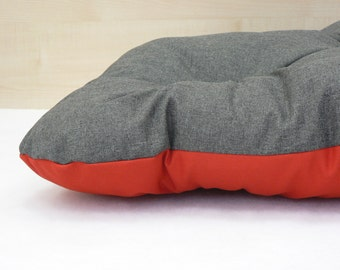 Waterproof Dog Bed, gray + red
