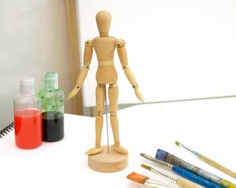 Artist's Wooden Articulated Lay-Figure Mannequin