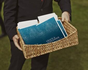 Printable Wedding Program - Wedding Program Template - Instant Download - Wedding Program PDF - Dark Blue Wedding Program - Starry Night