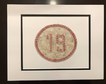 Leather Baseball Seams - Players Number - Picture