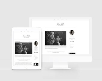 lifestyle blogger template minimal blog design responsive