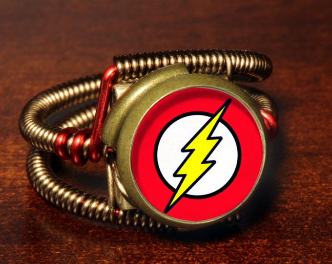 Steampunk Jewelry - Ring - The Flash